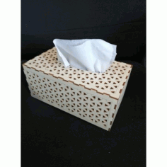 Laser Cut Wood Tissue Box Template DXF File