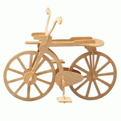 Laser Cut Wooden Bicycle Puzzle Model DXF File