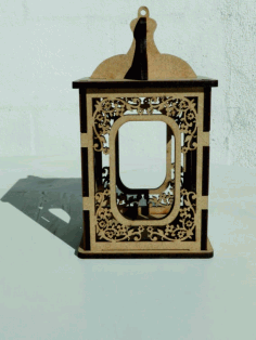 Laser Cut Wooden Candle Holder Candlestick Box CDR File