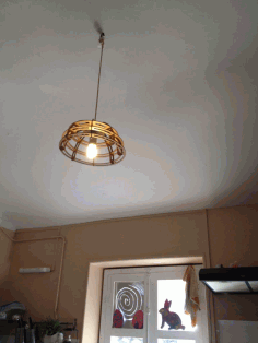 Laser Cut Wooden Hanging Pendant Lamp CDR File