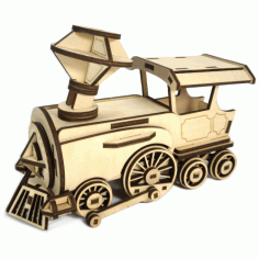 Laser Cut Wooden Locomotive Toy For Kids Free CDR Vectors File