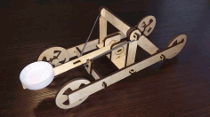 Wooden Toy Catapult Laser Cutting Design CDR File