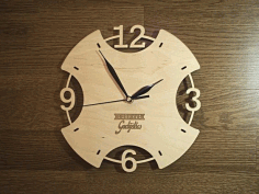 Laser Cut Wooden Wall Clock Free Download  Vector Dxf File DXF File
