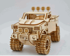 Laser Cutting Monster Truck Template CDR File