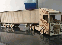 Laser Cutting Truck Drawing CDR File