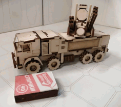 Laser Cutting ZRPK Pantsir S1 3mm CDR File