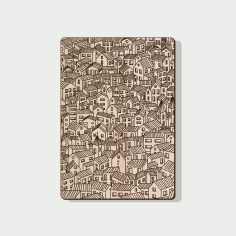Laser Engraving Pattern for Notebook Cover Laser Cut CDR File