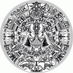 Laser Engraving Star Wars Aztec Calendar Laser Cutting CDR File