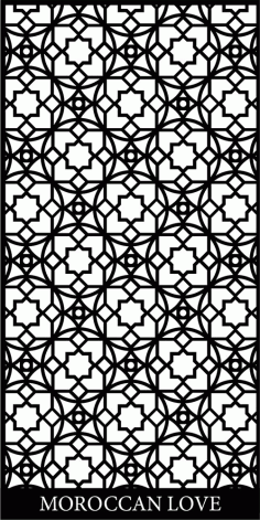 Lasercut Files Moroccan Screen Pattern Separator Free DXF Vectors File