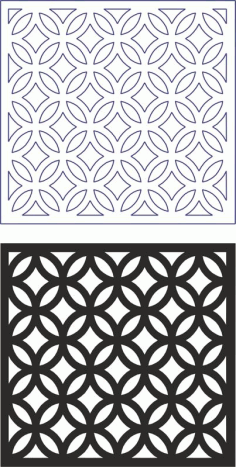 Lasercut Files Vector Geometric Seamless Pattern Modern Separator Free DXF Vectors File
