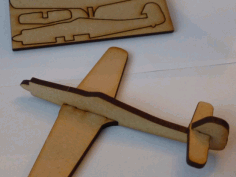 Lasercut FW190D Focke-Wulf Fighter Aircraft Free DXF Vectors File