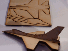 Lasercut Mini F16 Fighter Aircraft Free DXF Vectors File