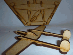 Lasercut P38 Lightning Fighter Aircraft Free DXF Vectors File