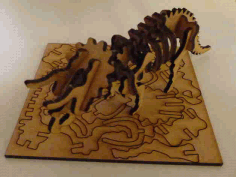Lasercut Triceratops Skeleton Puzzle Laser Cut DXF File