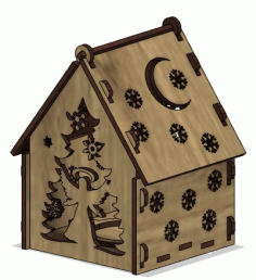 Lasercut Wooden House Model CDR File