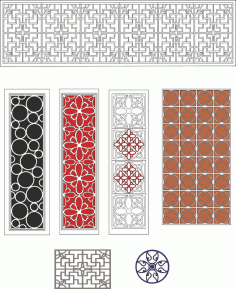 Lattice Design Collection Laser Cut CDR File