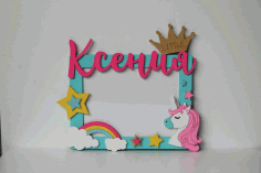 Layout of Decorative Unicorn Photo Frame CDR File