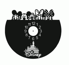 Layout of Disnep Clock Drawing CDR File