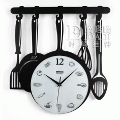 Layout Of Kitchen Clock CDR File