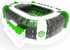 Layout Of Stadium DXF File