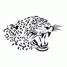 Leopard Laser Cut CDR File