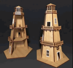 Light House CNC Laser Cutting Free CDR Vectors File