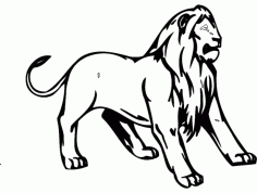 Lion Animal Mascot DXF File