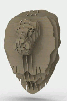 Lion Head Free Dxf File DXF Vectors File
