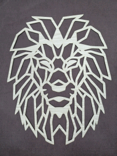 Lion Polygon Art Wall Decor Wall Art Decor 3D Sculpture Laser Cut DXF File