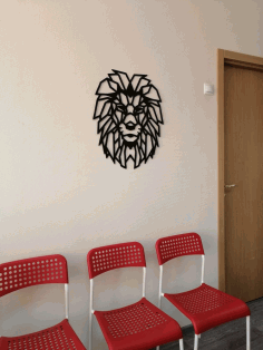 Lion Polygon Art Wall Decor Wall Art Decoration 3D Sculpture Laser Cut DXF File