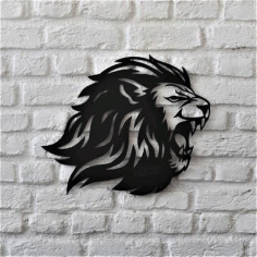Lion Wall Hanging Metal Art Vector File Free DXF File