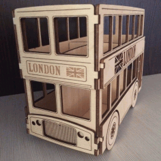 London Bus 3D Puzzle Free CDR Vectors File