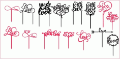 Love Cake Toppers Free Vector CDR File