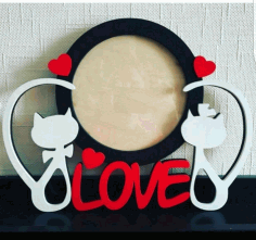 Love Theme Photo Frames Valentine Photo Frames Laser Cut CDR File