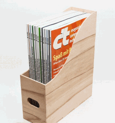 Magazine Holder Magazine Organizer Laser Cut CDR File