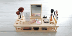 Makeup Box and Organizer Laser Cut Free CDR File