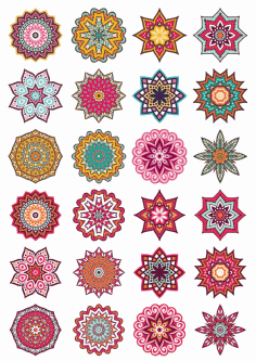 Mandala Decorative Elements Free CDR Vectors File