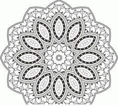 Mandala Design Free CDR Vectors File