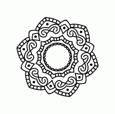 Mandala Design Ornament DXF File