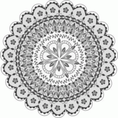 Mandala Download for Print Or Laser Engraving Machines DXF File