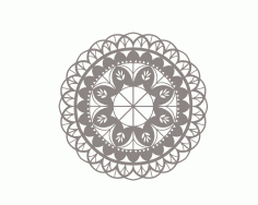 Mandala Floral Flower Ornament DXF File