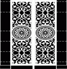 Mandala Motifs Door download DXF File
