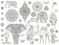 Mandala Ornamental Set CDR File