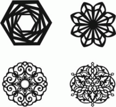 Mandala Silhouette for Laser Cut Plasma DXF File