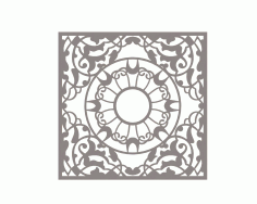 Mandala Square Ornament DXF File
