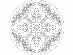 Mandala Template 1 Ornament DXF File