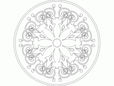 Mandala Template 4 Ornament DXF File