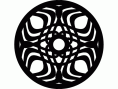Mandala Template 5 Ornament DXF File