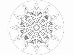 Mandala Template 7 Ornament DXF File