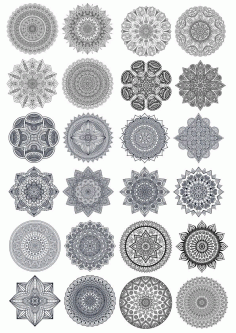 Mandala Vector Ornaments Set Free Vector CDR File